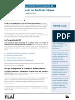 Declaracion de Posición del IIA -El Estatuto de Auditoria Interna