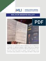 Dr. Juan Andrade, Jr. - USHLI - Mail-In or Absentee Ballot