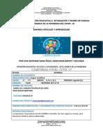 ESPAÑOL PRIMER TALLER SEGUNDO PERIODO 2020