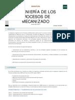 INGENIERÍA DE LOS PROCESOS DE MECANIZADO