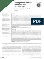 Remobilização por alongamento estático cíclico em músculo sóleo de ratos imobilizados em encurtamento