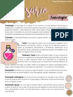 Glosario Toxicología