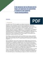 Una revisión de alcance de la eficacia de la realidad virtual y el ejercicio en pacientes con trastorno del sistema musculoesquelético (2019)