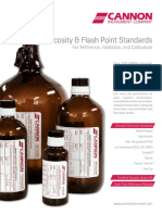 CANNON Viscosity & Flash Point Standards Brochure