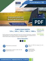 planta solar portatil 2019