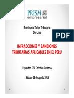 Infracciones y Sanciones Tributarias aplicables en el Perú