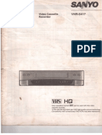 SANYO VCR VHR-5417 INSTRUCTION MANUAL