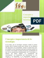 2.1 Concepto e importancia de la tecnología