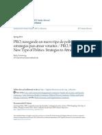 PRO navegando un nuevo tipo de político- estrategias para atraer