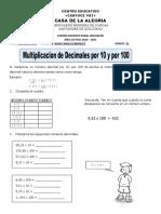 multiplicacion de decimales tercero
