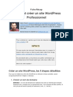 fiche recap wordpress