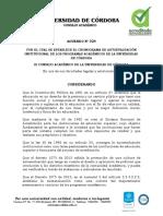 Acuerdo 024 de 2020 (Cronograma Autoevaluación)