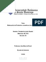 ELABORACION DE COSMÉTICOS DE USO CORPORAL