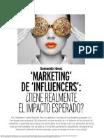 Sumando Ideas Marketing de Influencers Tiene realmente el impacto esperado (2020)