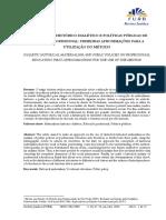 MATERIALISMO HISTÓRICO DIALÉTICO E POLÍTICAS PÚBLICAS DE EDUCAÇÃO PROFISSIONAL PRIMEIRAS APROXIMAÇÕES PARA A UTILIZAÇÃO DO MÉTODO