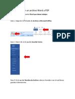 Word a PDF