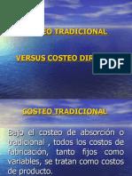 costeo tradicional versus costeo directo