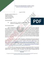 Fordham Letter
