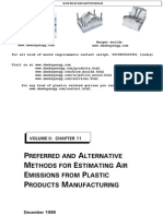EMISSIONS FROM PLASTIC PRODUCT MANUFACTURING.