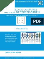 CÁLCULO DE LA MATRIZ INVERSA DE TERCER ORDEN.pptx