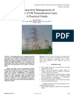 Construction Management of EVH & UVH Transmission Lines a Practical Guide