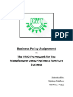 VRIO Framework Assignment
