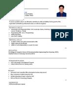 Software Engineer simple CV