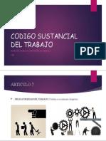 CODIGO SUSTANCIAL DEL TRABAJO
