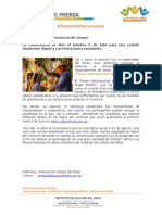 BOLETÍN 01 DE JULIO 2020. INSTITUTO DEPARTAMENTAL DE CULTURA