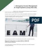 SAP GRC 12 EAM on HDB using Web IDE