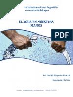 Memoria del encuentro latinoamericano de gestión comunitaria del agua
