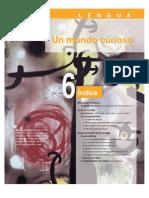 Lengua. Unidad 6- Un mundo curioso