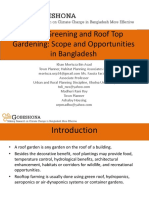 Urban Greening and Roof Top Gardening Scope and Opportunities in Bangladesh
