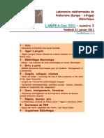 LAMPEA-Doc 2011 - numéro 3 / Vendredi 21 janvier 2011