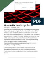 How to Fix JavaScript Errors