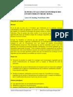 Economic Appraisal Methodology - French