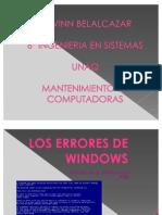 Los Errores de Windows y Linux