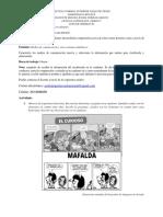 Guía de trabajo #1 La historieta