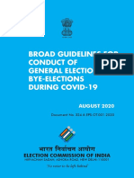 Guidelines For Conduct Of General Election, By-Election During COVID-19
