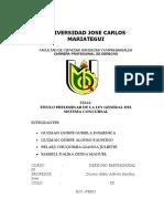 Grupo 3 -TITULO PRELIMINAR DE LA LEY 27809 ley GENERAL DEL SISTEMA CONCURSAL