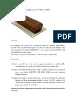 cake al cioccolato e caffe