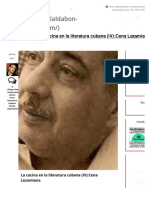 La cocina en la literatura cubana (IV):Cena Lezamiana | | Restaurante El Aldabón