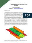 Formación de protoconductos en la intersección de dos fracturas.
