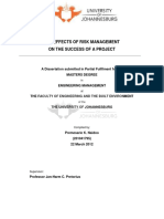 The effects of risk management on the success of a project222_compressed
