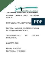 METODO DE ANALISIS HORIZONTAL