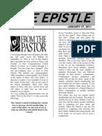 January 27,  2011 Epistle.doc