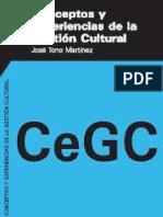 Conceptos y Experiencias de la Gestión Cultural