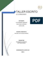 TALLER ESCRITO LE CORBUSIER