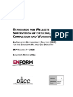 Standards for Wellsite Supervision of Drilling Completion and Workovers
