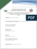 Plantilla Plan de investigación con orientación cualitativa